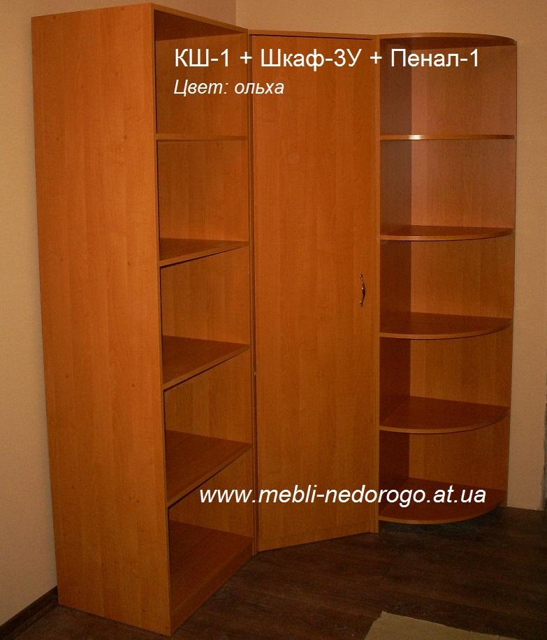 Шкаф книжный, детская стенка горка, стеллаж-шкаф книжный, гардеробная фото, купить книжный шкаф-стеллаж в Киеве