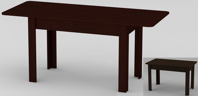 Стол кухонный венге КС - 5, раскладной стол, купить кухонный раскладной стол в Киеве, дешевый и недорогой обеденный стол Киев, мебель со склада
